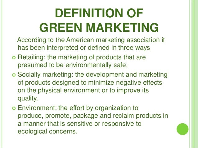 case study of green marketing in india