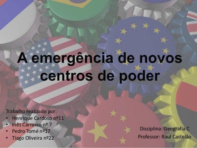 Trabalho realizado por: • Henrique Cardoso nº11 • Inês Carrasco nº 7 • Pedro Tomé nº17 • Tiago Oliveira nº22  Disciplina: ...