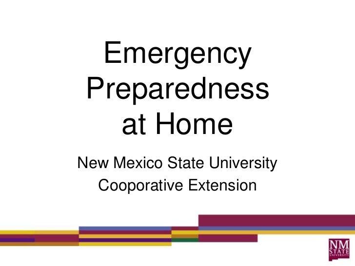 Emergency Preparedness   at HomeNew Mexico State University  Cooporative Extension