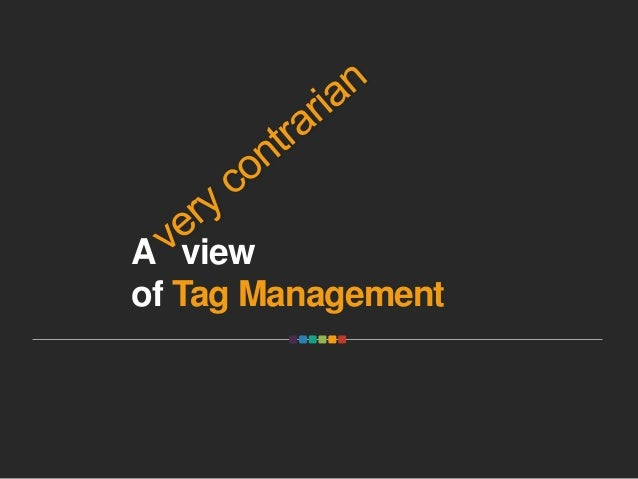 A view of Tag Management