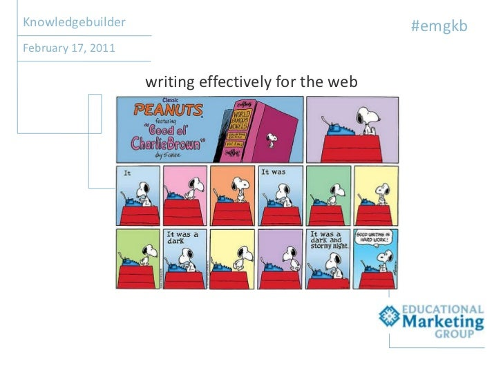 Knowledgebuilder<br />#emgkb<br />February 17, 2011<br />writing effectively for the web<br />