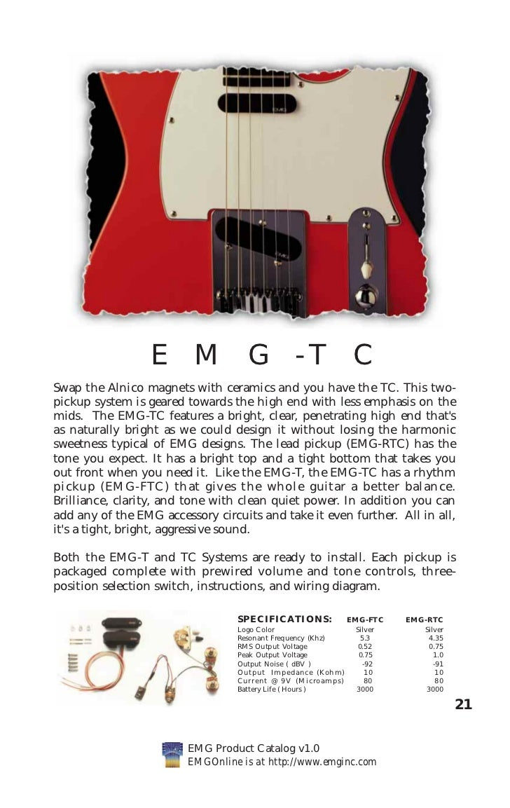 Emg Cat Hi Telecaster Wiring Diagram Tcswap