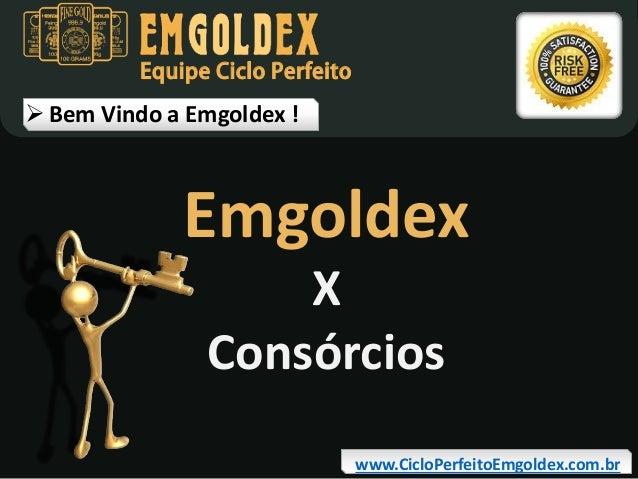 Equipe Ciclo Perfeito   Bem Vindo a Emgoldex !  Emgoldex X Consórcios  www.CicloPerfeitoEmgoldex.com.br