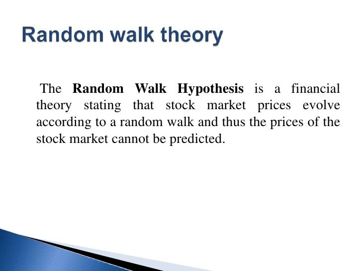 RANDOM WALK HYPOTHESIS PDF DOWNLOAD