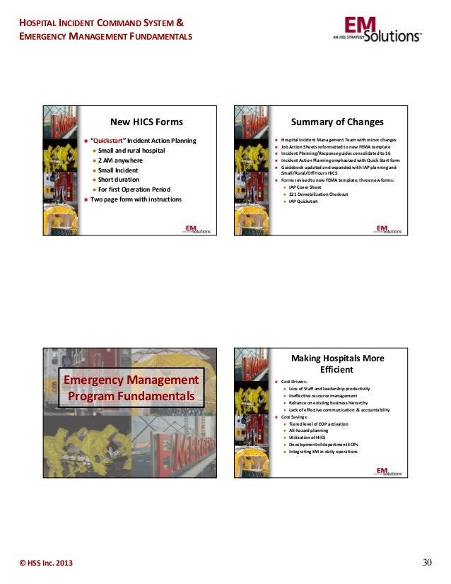 emergency management hospital incident command system fundamentals. Black Bedroom Furniture Sets. Home Design Ideas