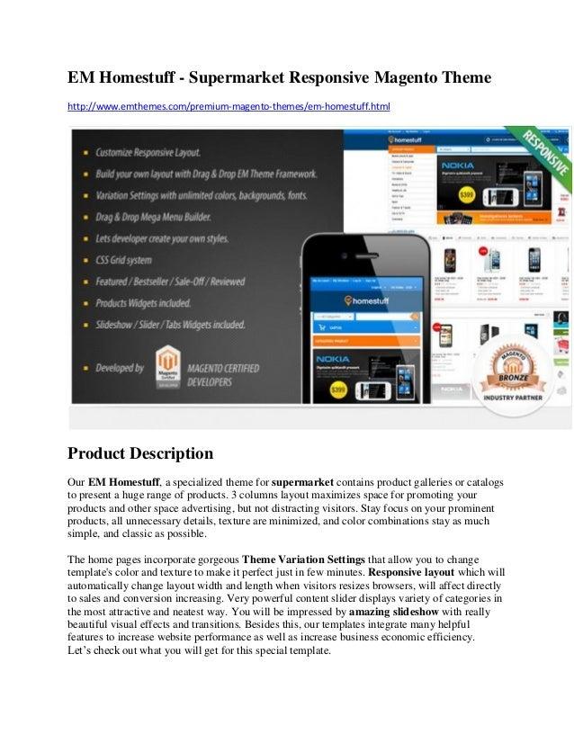 EM Homestuff - Supermarket Responsive Magento Theme http://www.emthemes.com/premium-magento-themes/em-homestuff.html Produ...