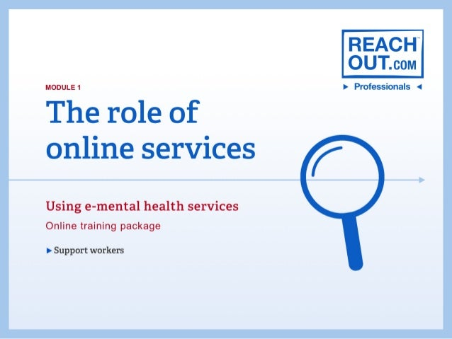 Module 1: The role of online services