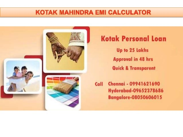 Kotak Home Loan Emi Calculator
