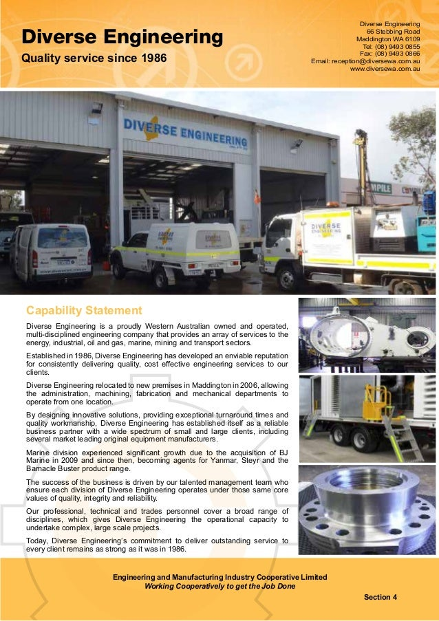 Engineering and Manufacturing Industry Cooperative Ltd