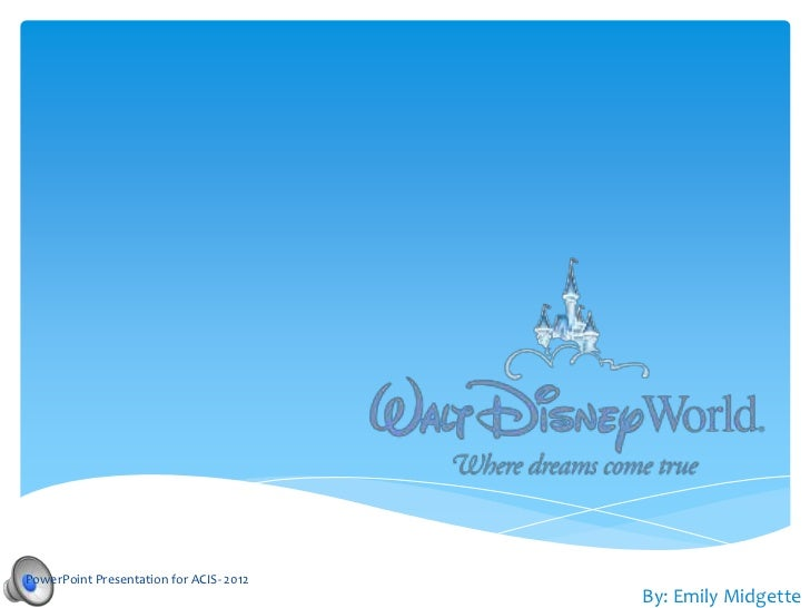 Disney Powerpoint Template Free