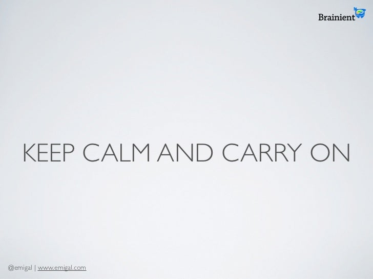 KEEP CALM AND CARRY ON@emigal | www.emigal.com
