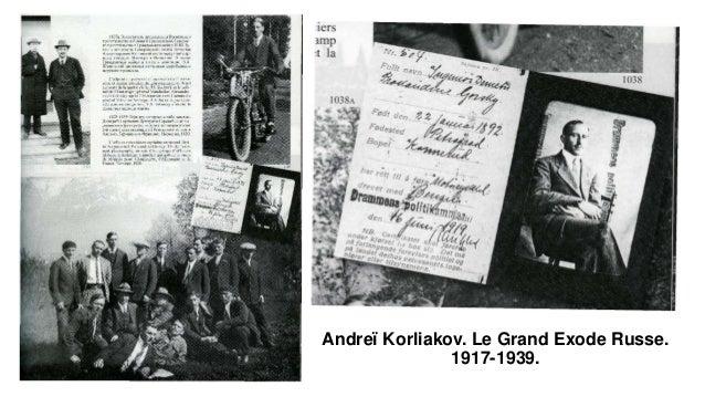Andreï Korliakov. Le Grand Exode Russe. 1917-1939.