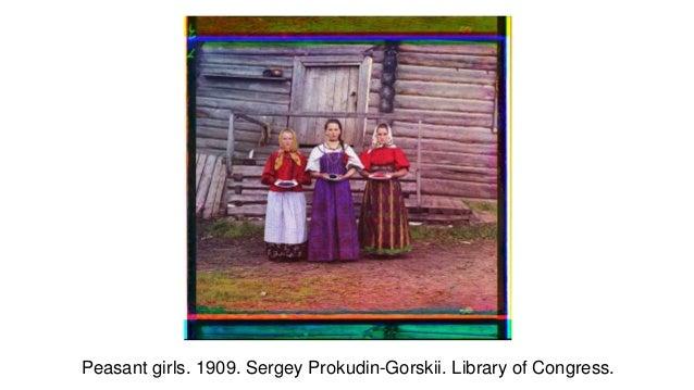 Peasant girls. 1909. Sergey Prokudin-Gorskii. Library of Congress.