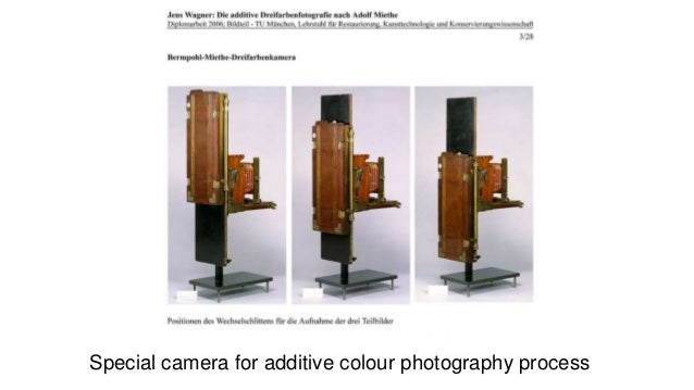 Special camera for additive colour photography process