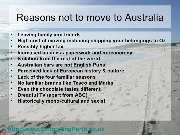 Emigrating to perth, western australia