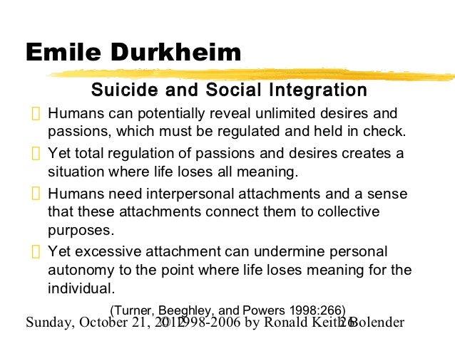 Emile durkheim research paper