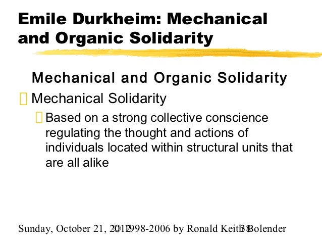 Mechanical and organic solidarity
