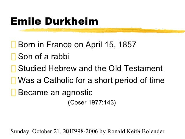 emile durkheims theories on suicide essay