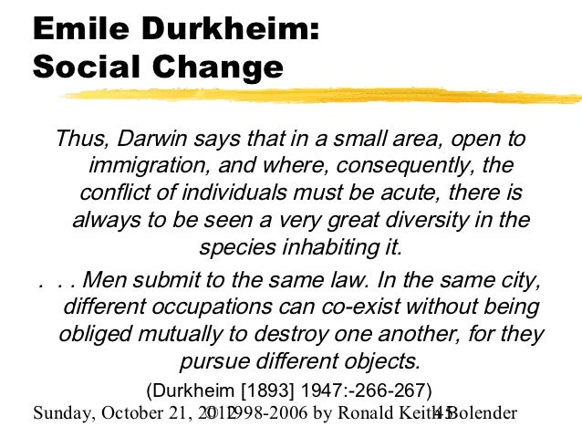 durkheim and the dynamic density Essays and criticism on mile durkheim he obtained a teaching position at the university of bordeaux and established a reputation as a dynamic and method and borrows from the darwinian system of survival of the fittest and the malthusian theory of population density to explain.