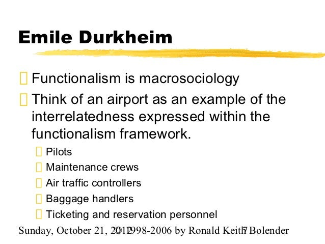 durkenheim functionalist Criticisms of functionalism - download as word doc (doc / docx), pdf file durkheim favoured a radical form of guild socialism along with functionalist.