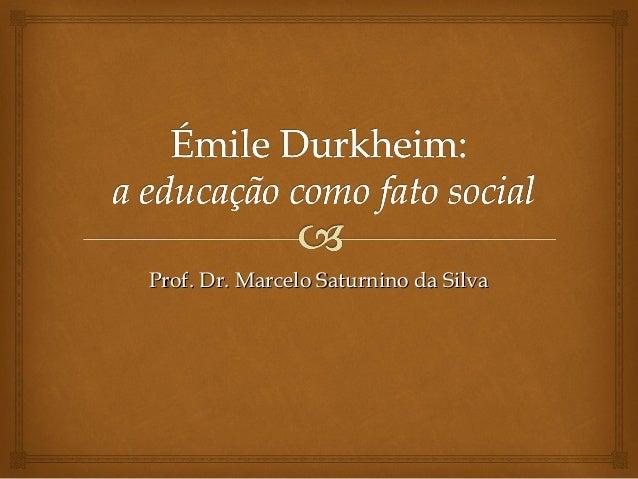 Prof. Dr. Marcelo Saturnino da Silva