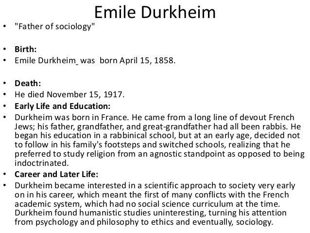 emile durkheim functionalist theory pdf
