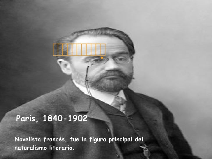  París, 1840-1902   Novelista francés, fue la figura principal del naturalismo literario.