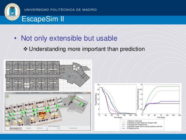 EscapeSim II • Not only extensible but usable Understanding more important than prediction