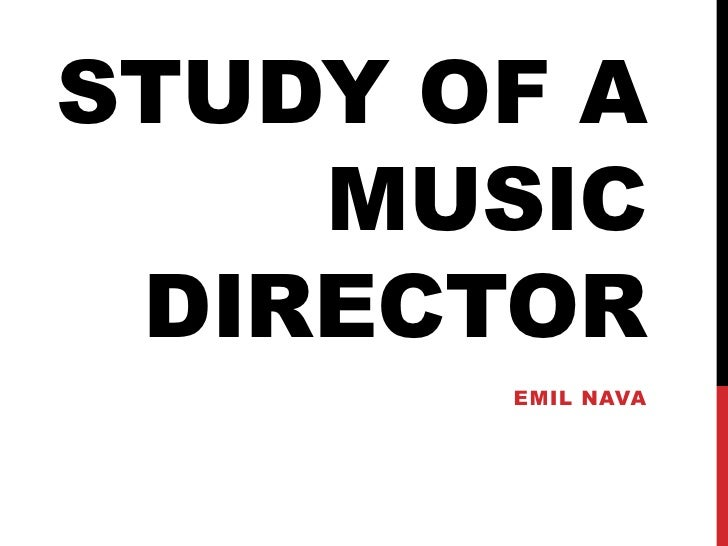 Study of a music director<br />Emil Nava<br />