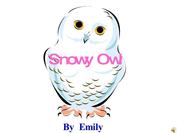 Snowy Owl By Emily