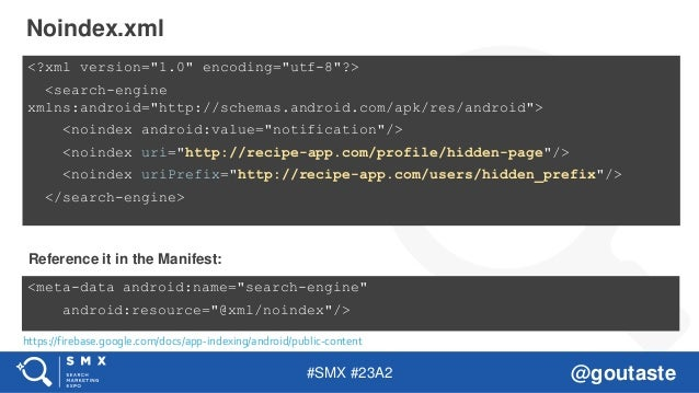 "#SMX #23A2 @goutaste <?xml version=""1.0"" encoding=""utf-8""?> <search-engine xmlns:android=""http://schemas.android.com/apk/r..."
