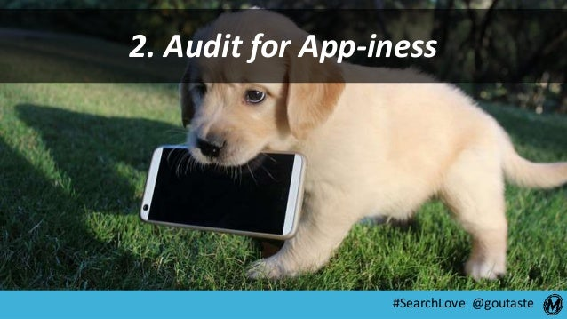 #SearchLove @goutaste 2. Audit for App-iness