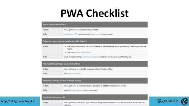 #SearchLove @goutaste PWA Checklist http://bit.ly/pwa-checklist
