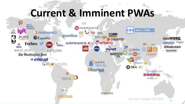 #SearchLove @goutaste Current & Imminent PWAs Source: Google I/O 2017