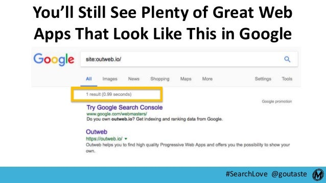 #SearchLove @goutaste You'll Still See Plenty of Great Web Apps That Look Like This in Google
