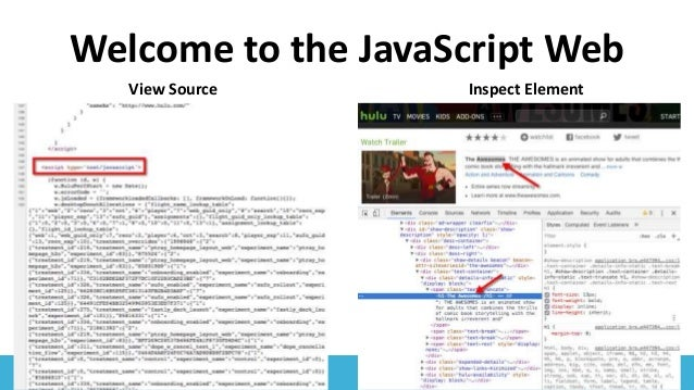 #SearchLove @goutaste Welcome to the JavaScript Web View Source Inspect Element