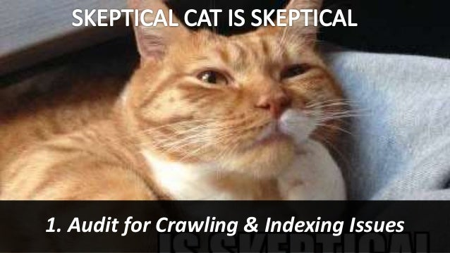 #SearchLove @goutaste 1. Audit for Crawling & Indexing Issues