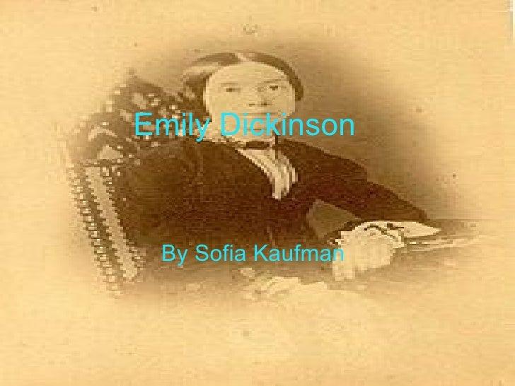 Emily Dickinson By Sofia Kaufman