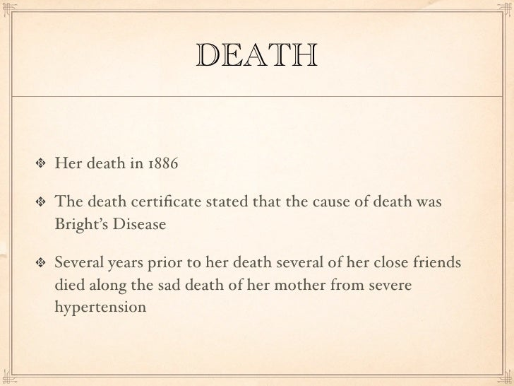 an analysis of the emily dickinsons obsession with death Essays & papers compare and contrast themes of death in emily dickinson's more death essay topics a deeper analysis shows the and obsession with death.