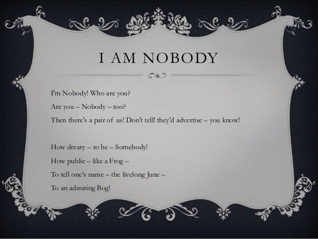 i m nobody emily dickinson