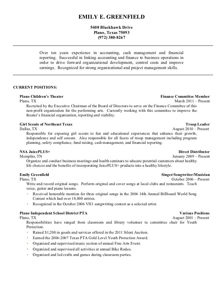 bba finance resume