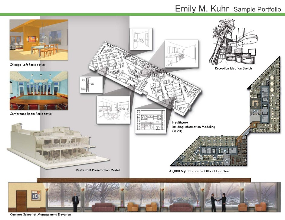 Emily kuhr sample portfolio for Interior design portfolio examples