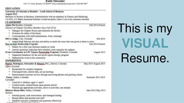 emily ostrander resume presentation
