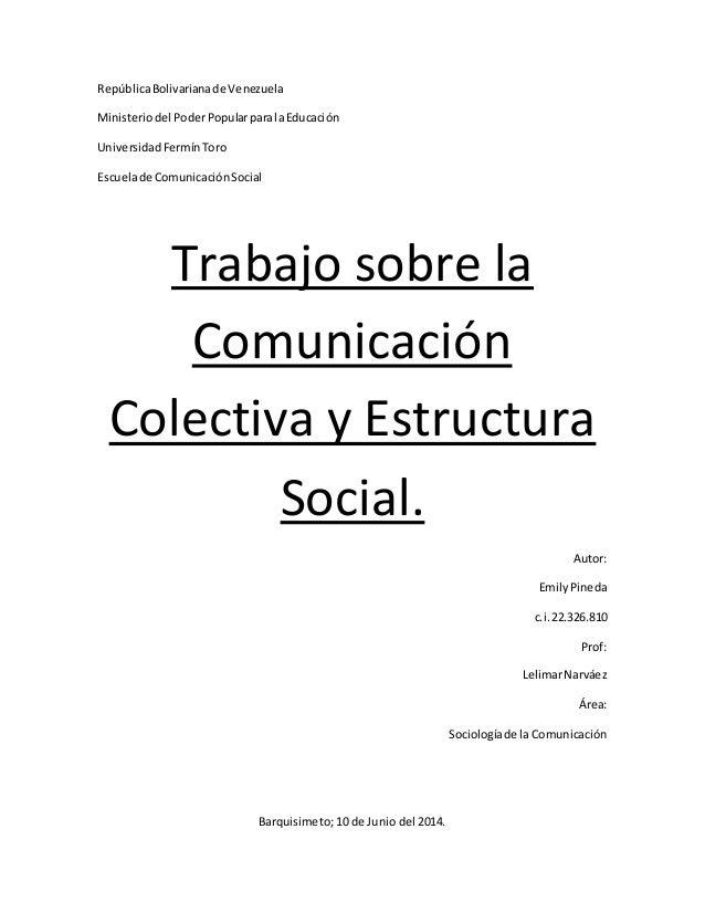 República Bolivariana de Venezuela  Ministerio del Poder Popular para la Educación  Universidad Fermín Toro  Escuela de Co...