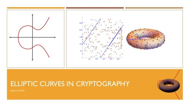 ELLIPTIC CURVES IN CRYPTOGRAPHY EMILY STAMM