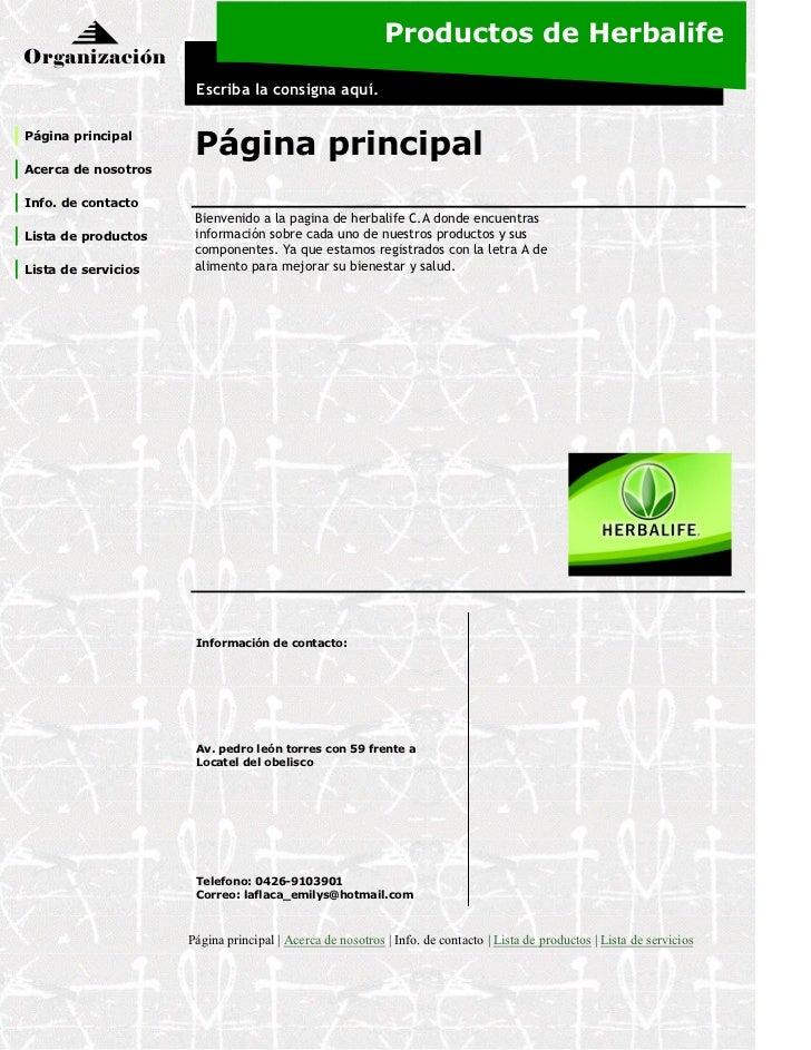 Productos de HerbalifeOrganización                      Escriba la consigna aquí.Página principal                      Pág...