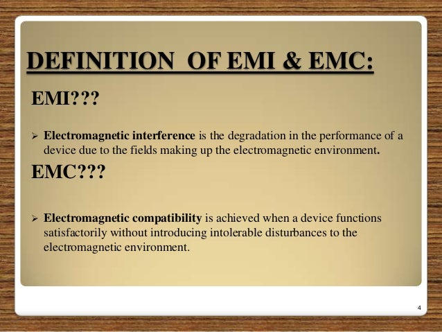 Electromagnetic Interference & Electromagnetic Compatibility