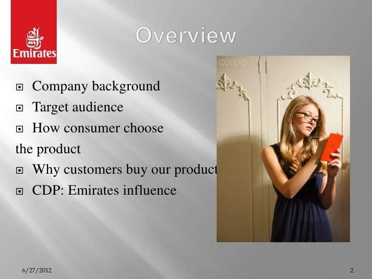 Emirates consumer  behaviour anaysis Slide 2