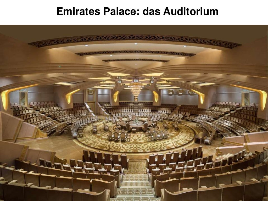 Emirates Palace - Location Tour: das Auditorium