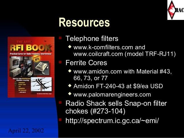 EMI RFI Amateur Radio Presentation - VE6TN